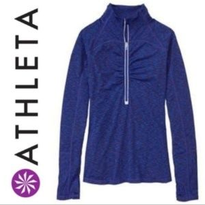 Athleta Pop Space Dye Half Zip Top Size S